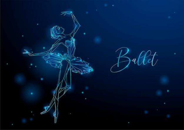 Rougeoyante image fantastique d'une danseuse Vecteur Premium
