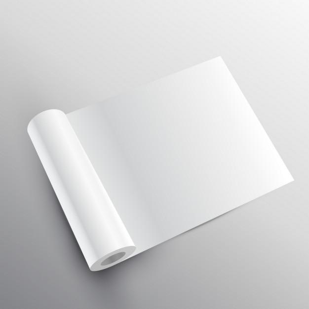 Rouleau De Papier Maquette Dans Le Style 3d Vecteur gratuit