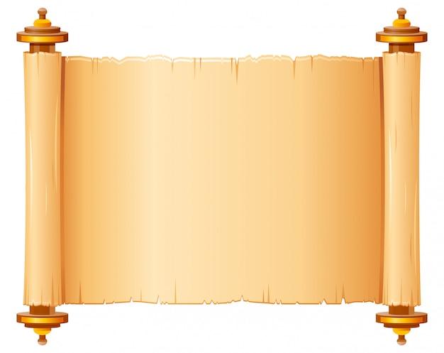 Rouleau De Papyrus Vintage, Papier Parchemin Vecteur Premium