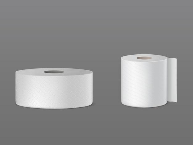 Rouleaux de papier toilette perforés, essuie-tout jetables, essuie-glace pour le nettoyage de la poussière Vecteur gratuit