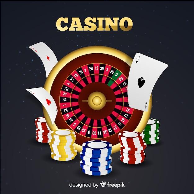 Roulette de casino Vecteur gratuit