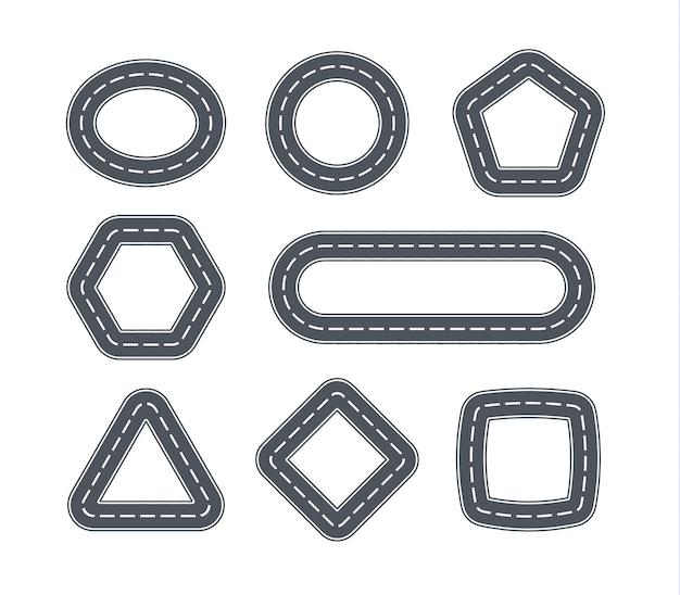 Route Sous Forme De Formes Géométriques. Vecteur Premium