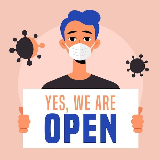Rouvrir L'économie Après Le Coronavirus Vecteur gratuit