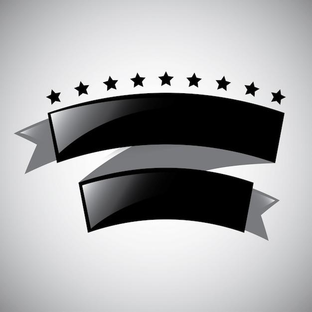Ruban noir Vecteur gratuit