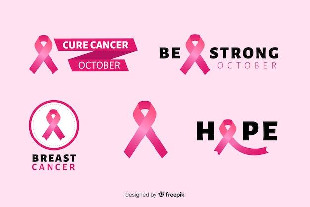 Ruban réaliste sensibilisation au cancer du sein Vecteur gratuit