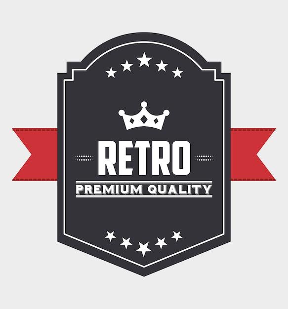 Ruban rétro Vecteur Premium