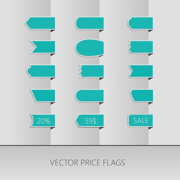 Rubans de prix de vecteur bleu Vecteur Premium