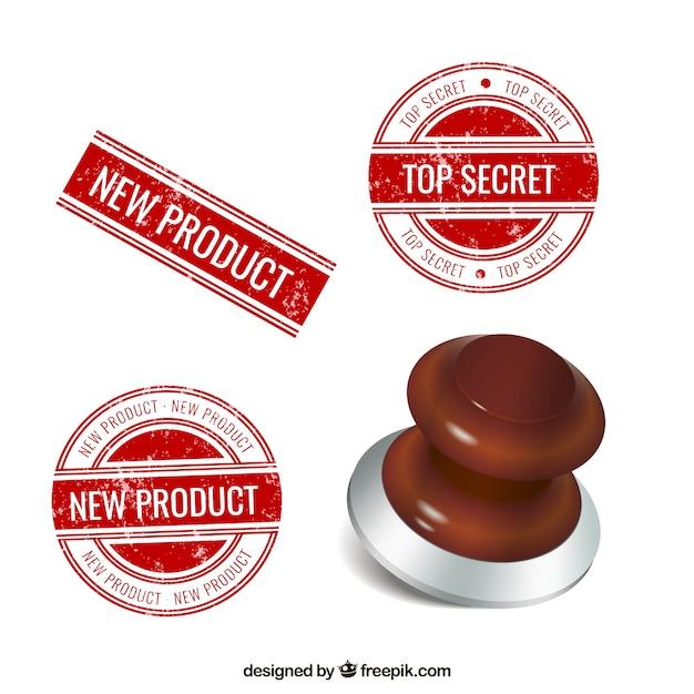 Rubber stamp Vecteur gratuit