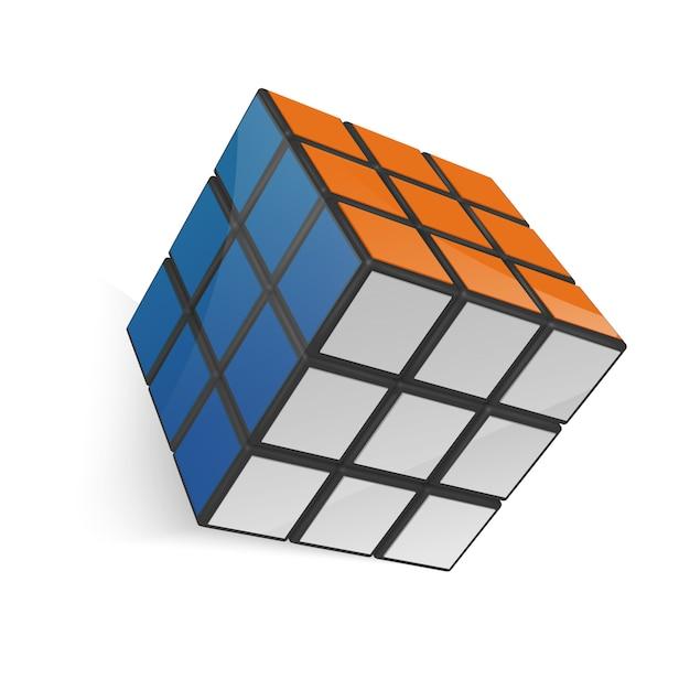 Rubik's Cube Vecteur Premium