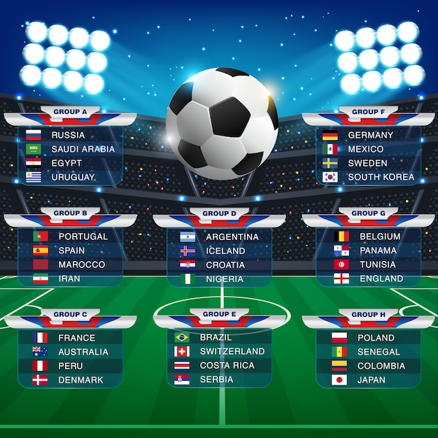 Coupe Du Monde 2018 Football Fifa Russie: Russie 2018 Calendrier De La Coupe Du Monde