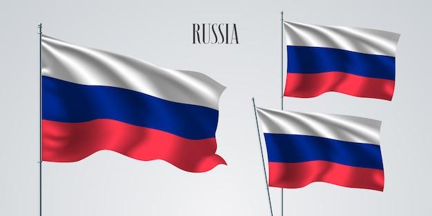 La Russie Agitant Des Drapeaux D'illustration Vecteur Premium