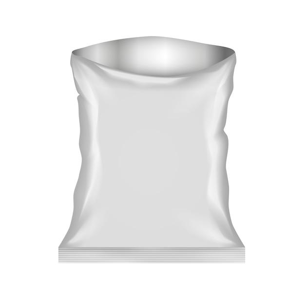 Sac En Plastique Ouvert Isolé Vecteur gratuit