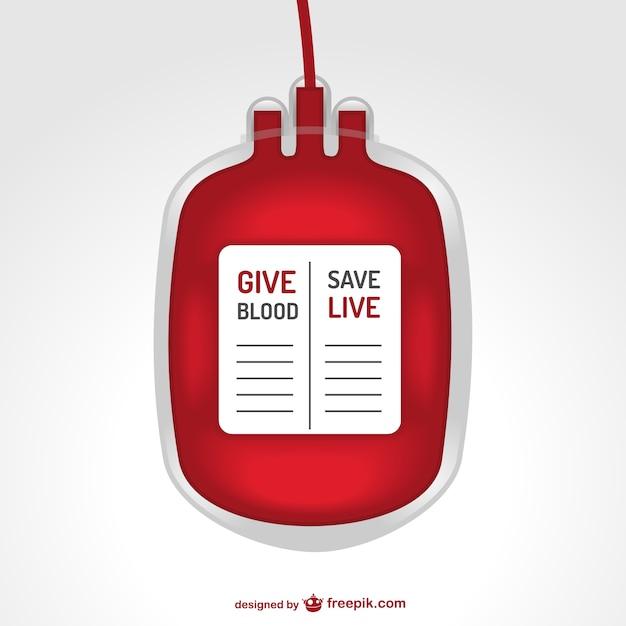 Sac Transfusion Sanguine Illustration Vecteur Premium