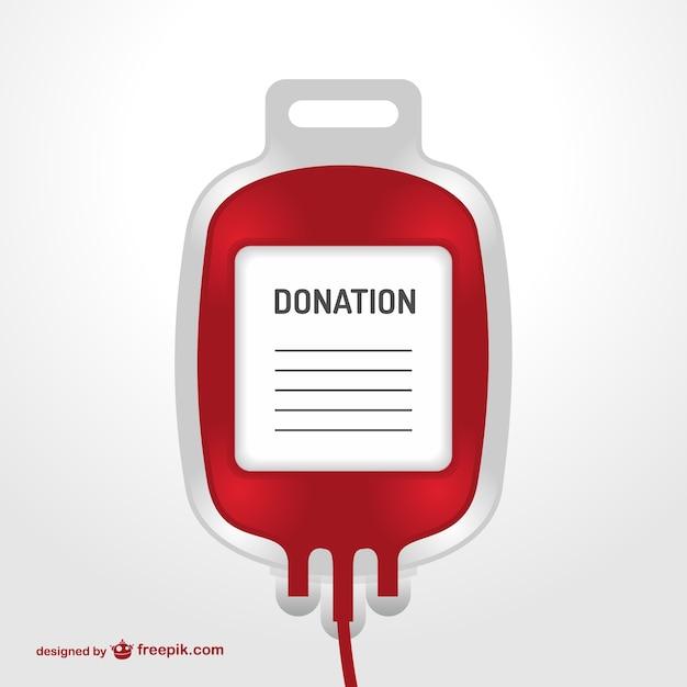 Sac Vecteur De Transfusion Sanguine Vecteur Premium