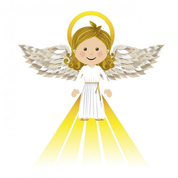 Saint ange gardien Vecteur Premium
