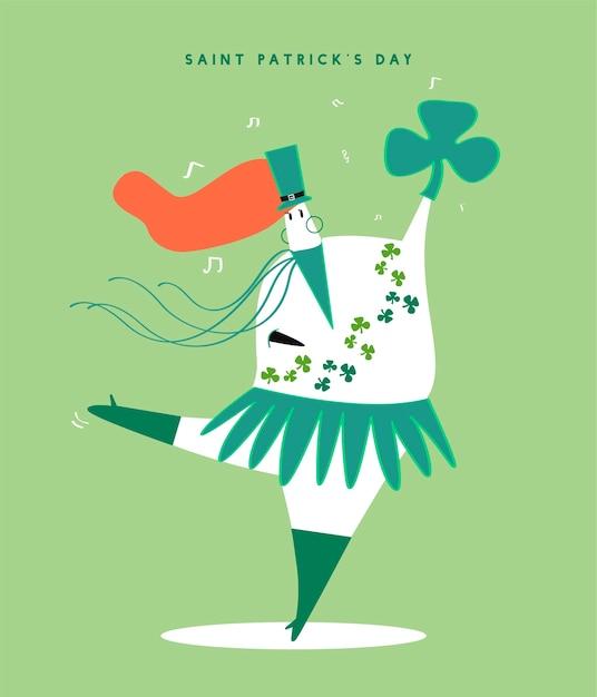 Saint Patrick Vecteur gratuit
