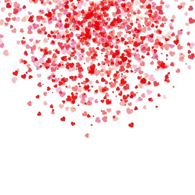 Saint valentin fond avec la chute des coeurs t l charger - Image st valentin a telecharger gratuitement ...