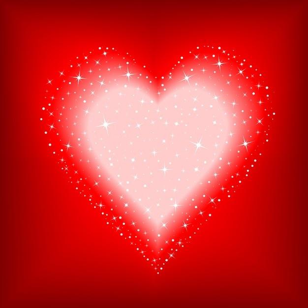 Saint valentin fond avec un c ur plein d 39 toiles - Image st valentin a telecharger gratuitement ...