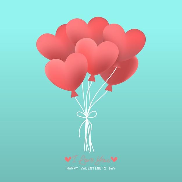 Saint valentin fond avec motif coeur Vecteur Premium