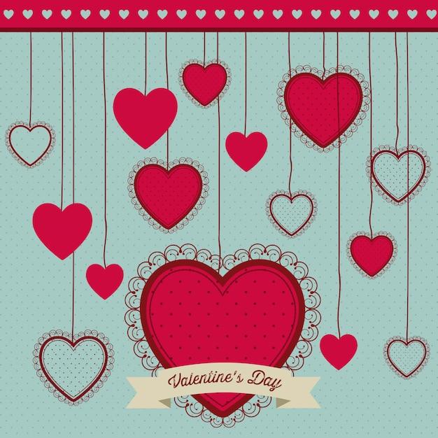 La saint valentin Vecteur Premium