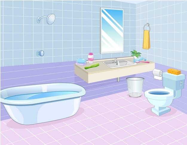 Salle de bains Vecteur Premium