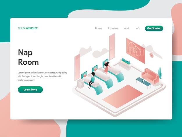 Salle de sieste pour la page web Vecteur Premium