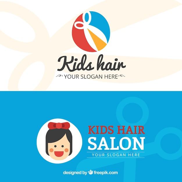 Salon de coiffure pour enfants flat carte de visite for Salon de coiffure pour enfant