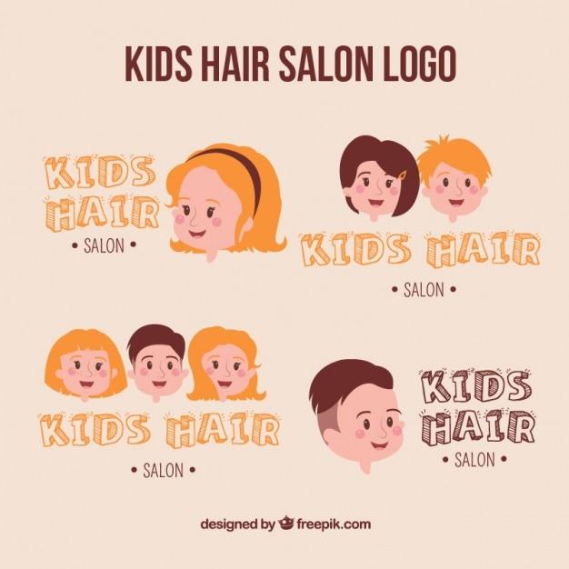 Salon de coiffure pour enfants logo collection for Salon de coiffure pour enfant