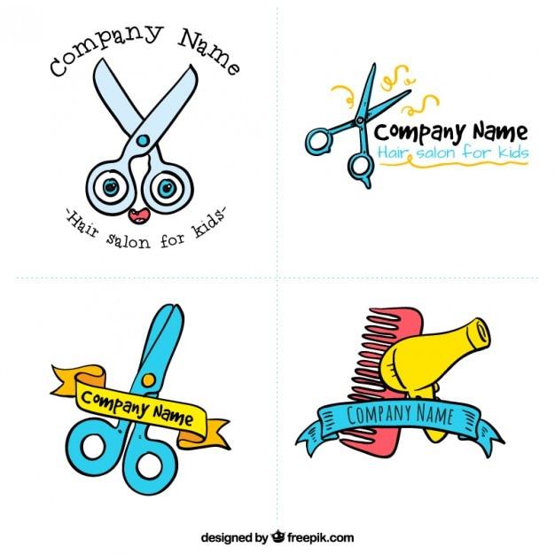 Salon de coiffure pour enfants logos t l charger des for Salon de coiffure pour enfant