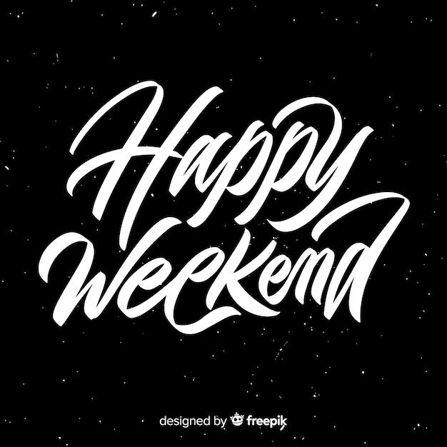 Salut simple week-end Vecteur gratuit
