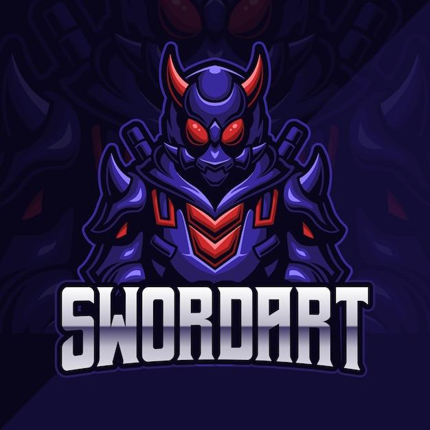 Samurai Assassin Esport Logo Gaming Vecteur Premium