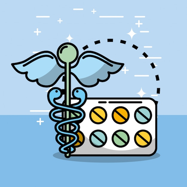 Santé médicale liée Vecteur Premium
