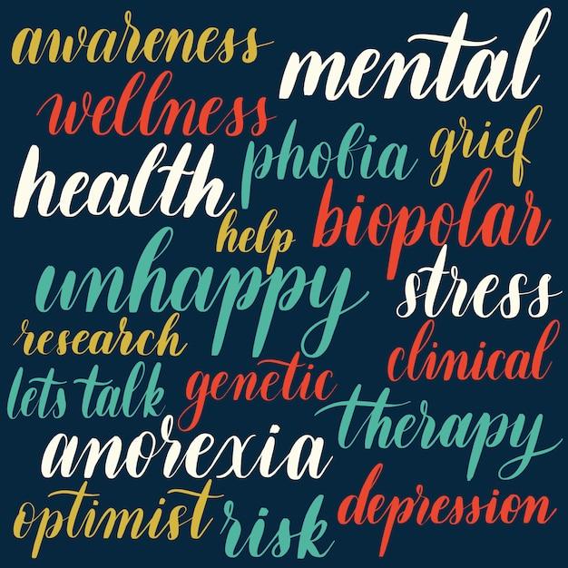 Santé mentale Vecteur Premium