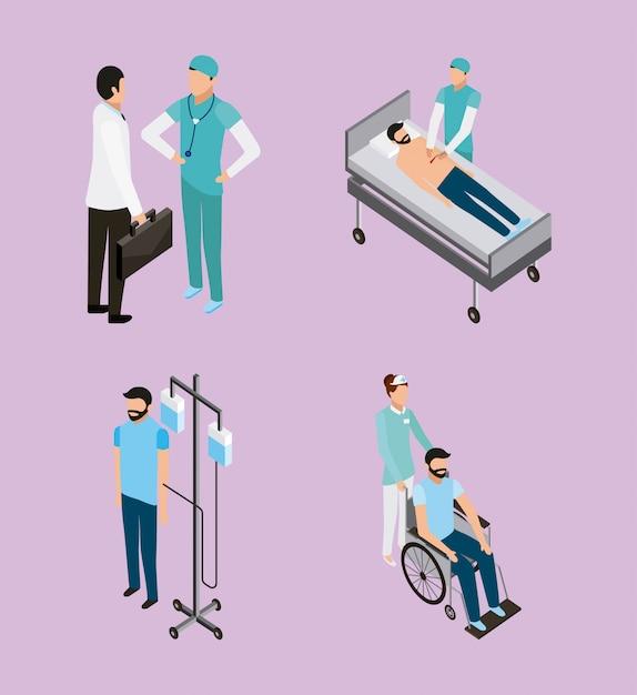 La santé des personnes médicales Vecteur gratuit