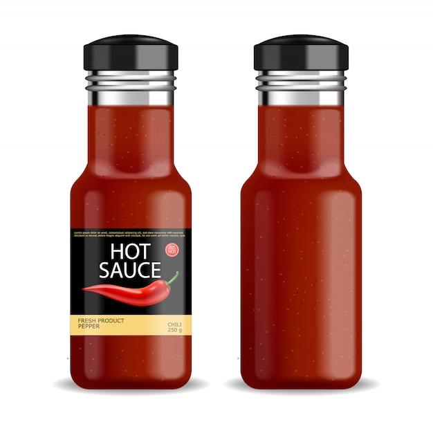 Sauce Chili Chaude Vecteur Premium