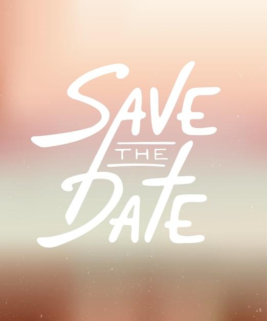 Save The Date Invitation Carte Calligraphie Moderne Vecteur Premium