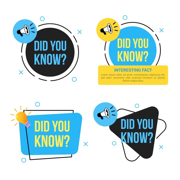 Saviez-vous Que La Bannière Sertie D'ampoule Et De Mégaphone Vecteur Premium