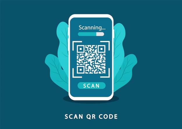 Scannez Le Code Qr. Code Qr De Vérification. Vecteur Premium