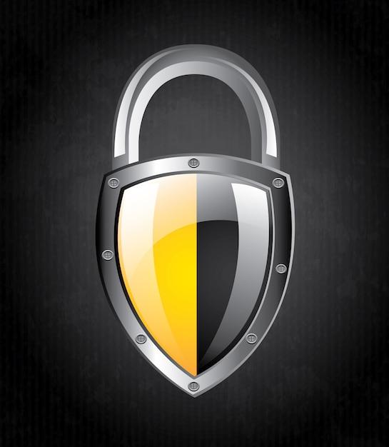 Sceau de sécurité Vecteur Premium