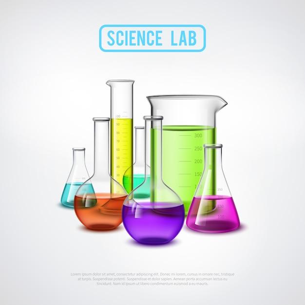Sceince lab composition Vecteur gratuit