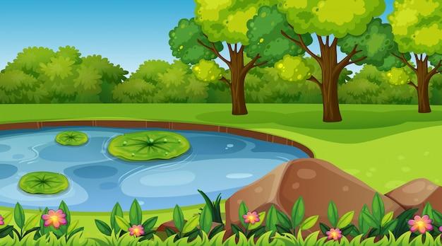 Scène de la nature de fond vide ou backgroundry Vecteur gratuit