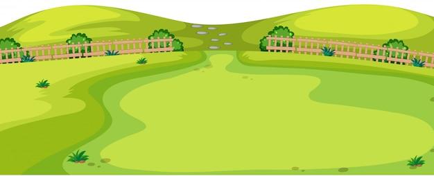 Scène De Paysage Naturel Vecteur gratuit