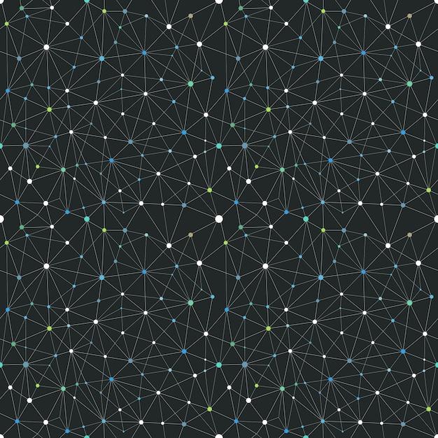 Schéma abstrait de connexion web. fond vectorielle continue Vecteur Premium