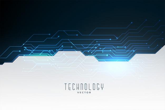 Schéma De Circuit Technologique Vecteur gratuit
