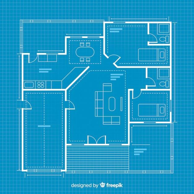 Schéma de maison numérique Vecteur gratuit