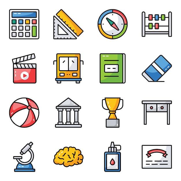 Science and education icons pack Vecteur Premium