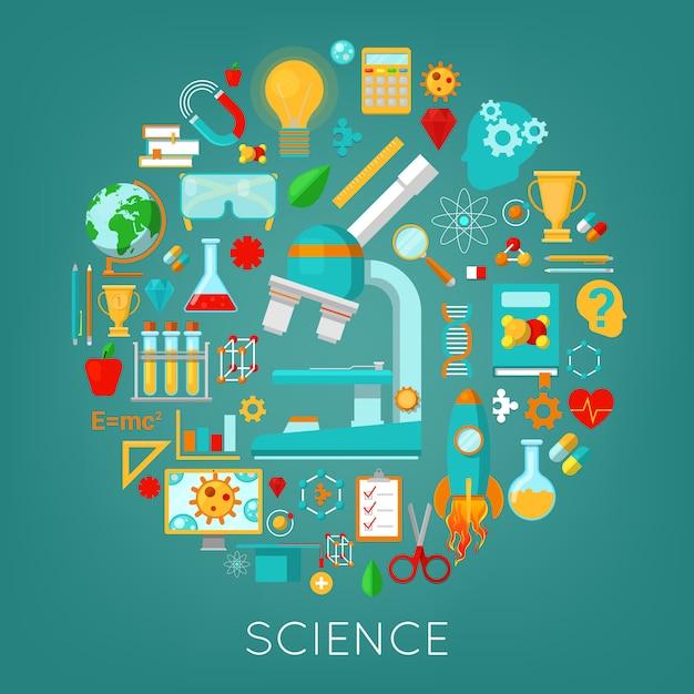 Science Chimie Et Physique Icons Set Education Concept. Vecteur Premium