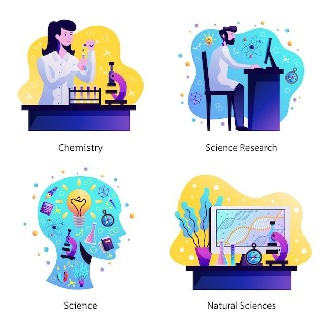 Science concept design Vecteur gratuit