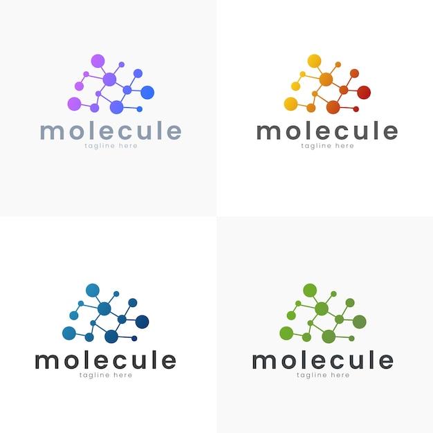 Science de concept de logo illustration vectorielle et style médical modèle simple et dégradé Vecteur Premium