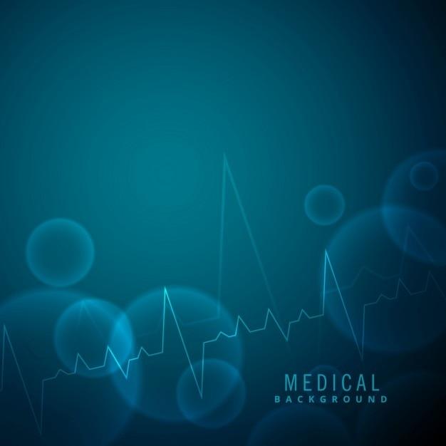 La science rythme cardiaque et les antécédents médicaux Vecteur gratuit